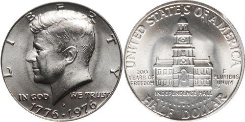 1976 D Kennedy Half Dollar Value 17761976 Dual Date