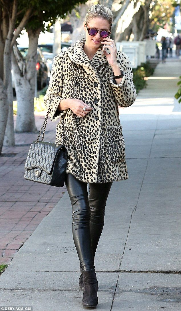 Wild thing: Nicky Hilton, 32, made a glamorous appearance during an outing in West Hollywood on Tuesday