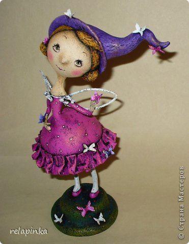 Куклы Папье-маше Цветочная фея Бумага фото 1