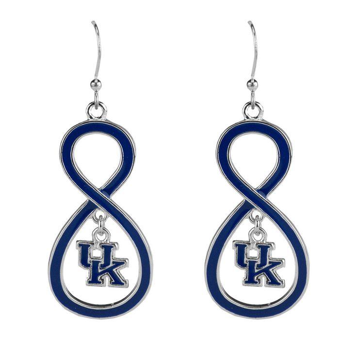 Kentucky Wildcats - Infinity Drop Logo Earrings
