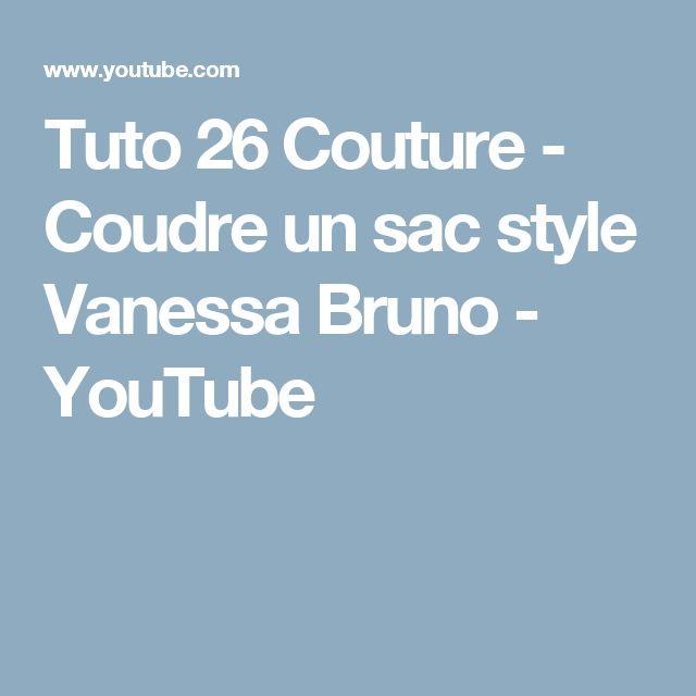 Tuto 26 Couture - Coudre un sac style Vanessa Bruno - YouTube