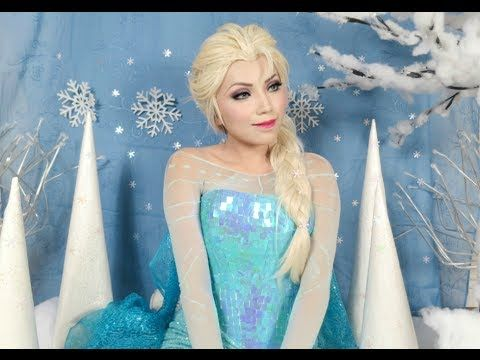 Use this tutorial to make yourself into Elsa from Frozen for Halloween.