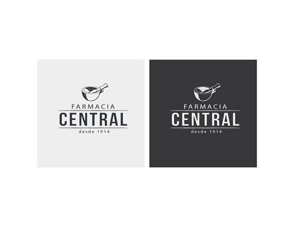 Creación de logo - Farmacia Central / Logo creation - Farmacia Central #Branding #Logo #Design #RocketCreativo