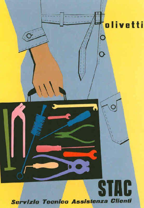 Olivetti Poster | Egidio Bonfante, 1954