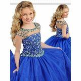Ritzee Girls 7252 Keyhole Back Pageant Dress