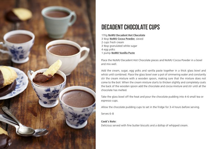 Yummy chocolate cups. Recipe via Nomu.