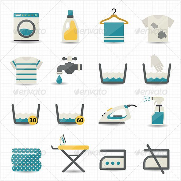 Laundry and Washing Icons | Buy and Download: http://graphicriver.net/item/laundry-and-washing-icons/8434510?WT.ac=category_thumb&WT.z_author=karawan&ref=ksioks