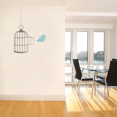 Love this little birdcage decal!