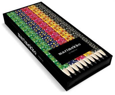 Set of 10 lead pencils by Marimekko featuring their famous floral design. 2 each…