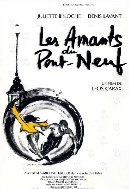 affiche du film Les Amants du Pont-Neuf