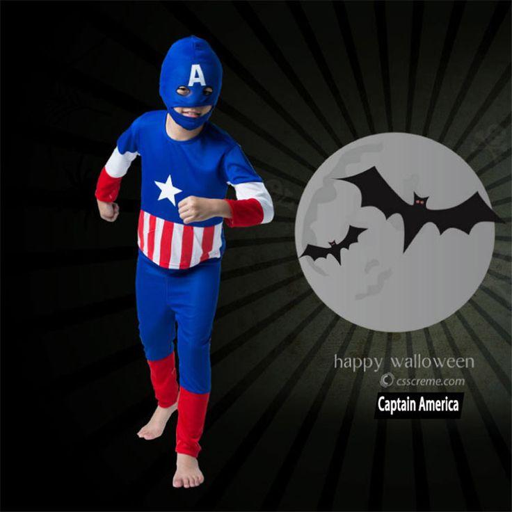 Children Halloween Captain America Spiderman Cosplay Costume Kids Superman Batman Zorro Altman Costume Part Wear