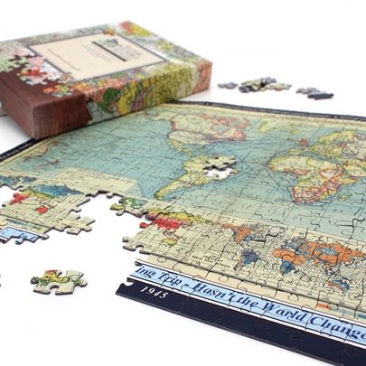 21 best stuff to buy images on pinterest jigsaw puzzles puzzles this exciting personalised jigsaw puzzle features a full colour political world map a different style and content for every year from 1890 to the current gumiabroncs Gallery