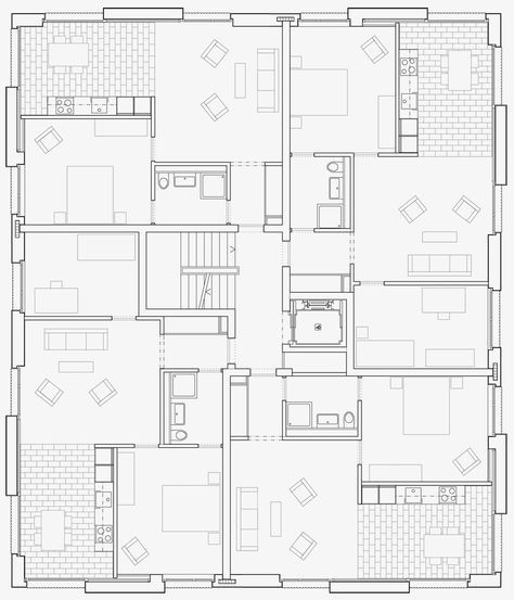 Grundriss-Prototyp für «affordable housing»: Haus «Adimora»