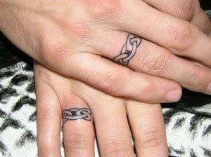 Wedding Ring Tattoos Designs ~ Bridal Wears