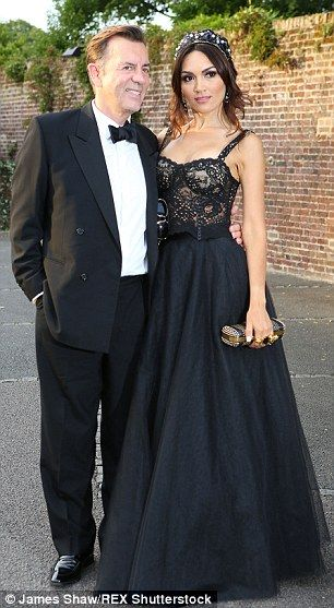 Duncan Bannatyne is pictured with his girlfriend of just a few months Nigora Whitehorn ear...