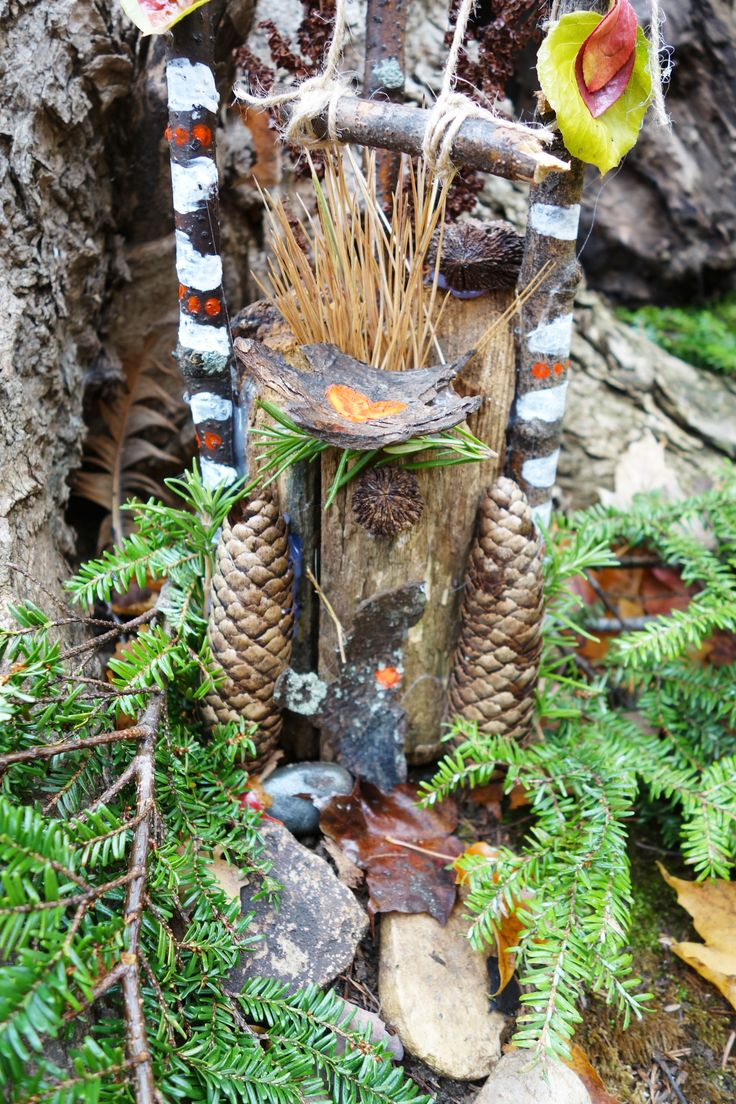My fairy house nested in the woods on the fairy trails