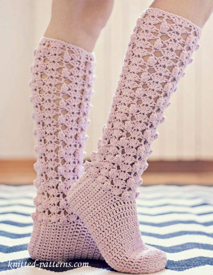 Free Crochet Pattern Knee High Socks : Craft Passions