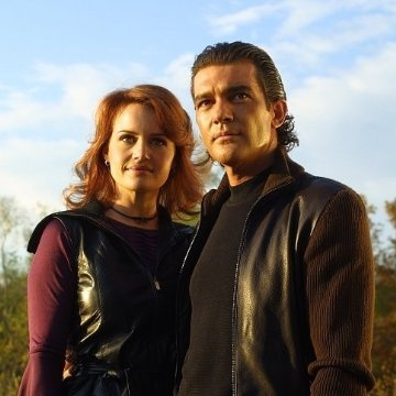 Antonio Banderas and Carla Gugino in Spy Kids 2.....if you have not seen these....you are a sad little man. You have my pity.