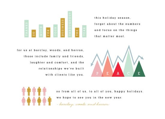 Sweet and endearing, this holiday corporate brings a little added sincerity to your corporate holiday card.