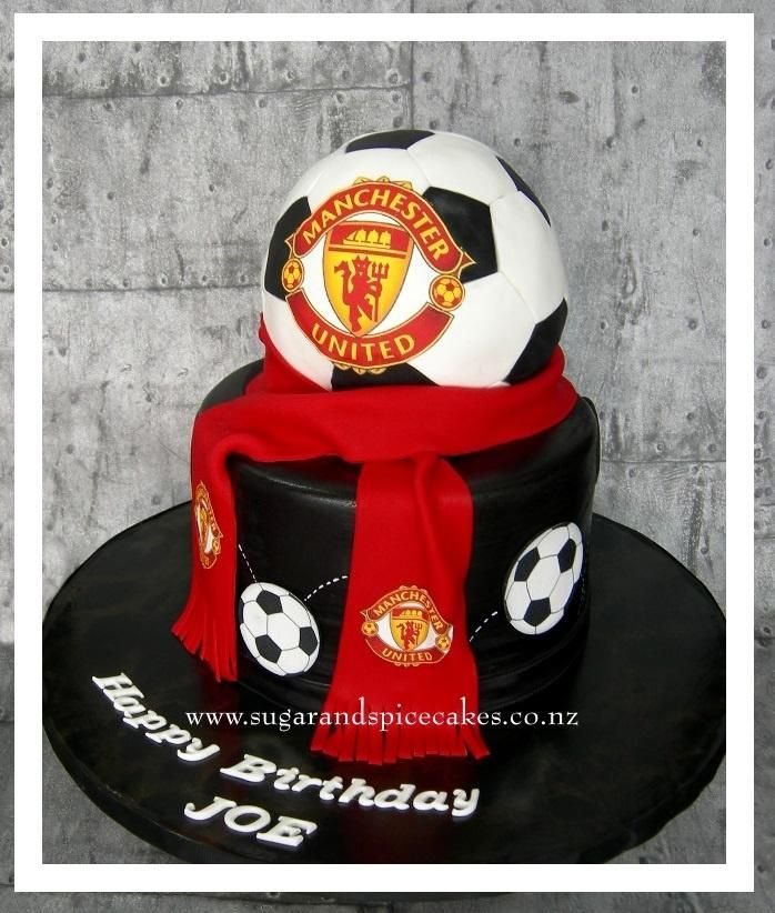Manchester United Football Cake - Cake by Mel_SugarandSpiceCakes