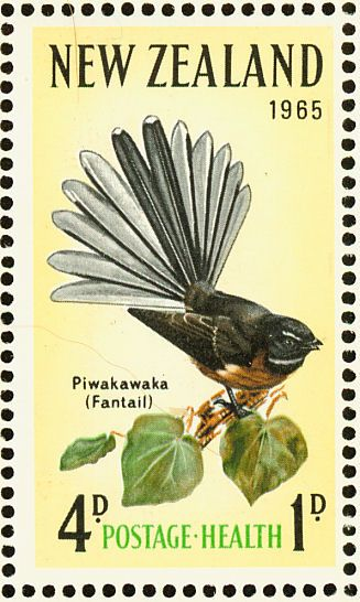New Zealand Fantail stamps - mainly images - gallery format
