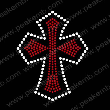 Small Cross Rhinestone Design Iron On Transfer