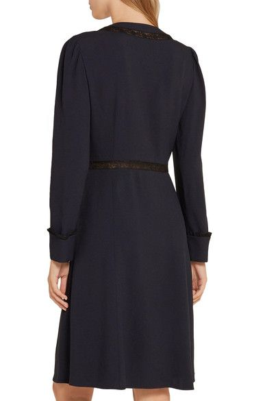 Prada - Lace-trimmed Crepe Dress - SALE20 at Checkout for an extra 20% off