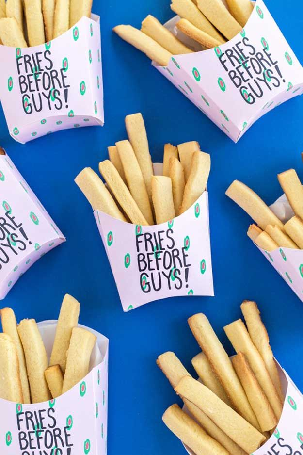 Anti Valentines Day | Fries Before Guys Free Printable |  How To Throw The Ultimate Anti Valentines Day Party! by DIY Ready at http://diyready.com/anti-valentines-day-party-ideas/
