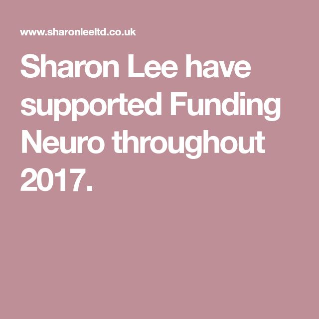Sharon Lee have supported Funding Neuro throughout 2017.
