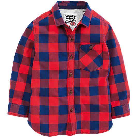Das karierte NEXT Kinder Hemd ist aus reiner und hochwertiger Baumwolle gearbeitet. Ein weiches Futter aus Jersey sorgt für viel Wärme auch an kalten Tagen.<br /> <br /> - klassischer Kentkragen<br /> - eine aufgesetzte Brusttasche<br /> - durchgehende Knopfleiste<br /> - leicht abgerundeter Saum<br /> - mit Einknopfmanschette<br /> <br /> Material: 100% Baumwolle<br /> Futter: 95% Baumwolle, 5% Viskose<br /> <br /> ---Pflegehinweise---<br /> - Maschinenwäsche bei 30°, von links<br…