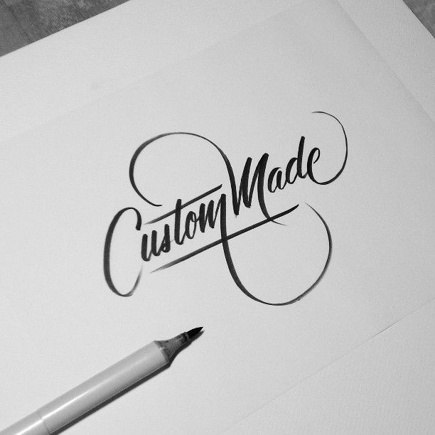 Custom Made #calligraphy #typography #handlettering http://www.aceadvertisingsigns.com/