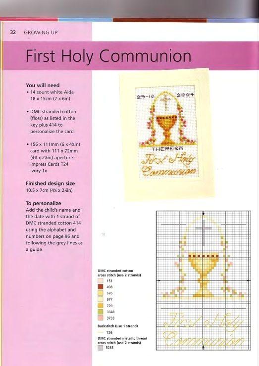 First Communion cross stitch