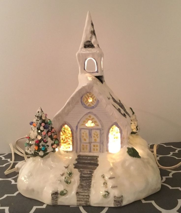 Painting Church In Snow Religious Christmas Ceramic: 273 Best Ceramics Images On Pinterest
