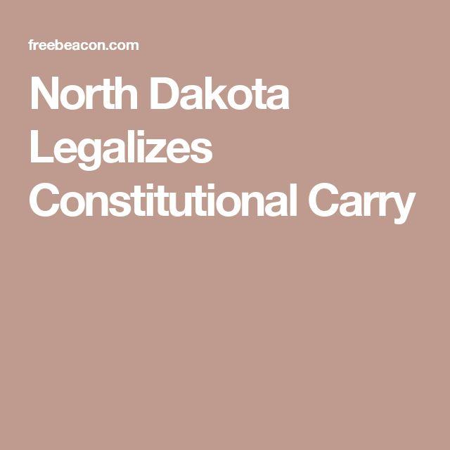 North Dakota Legalizes Constitutional Carry