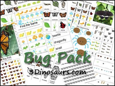 Free Bug Pack from 3 Dinosaurs
