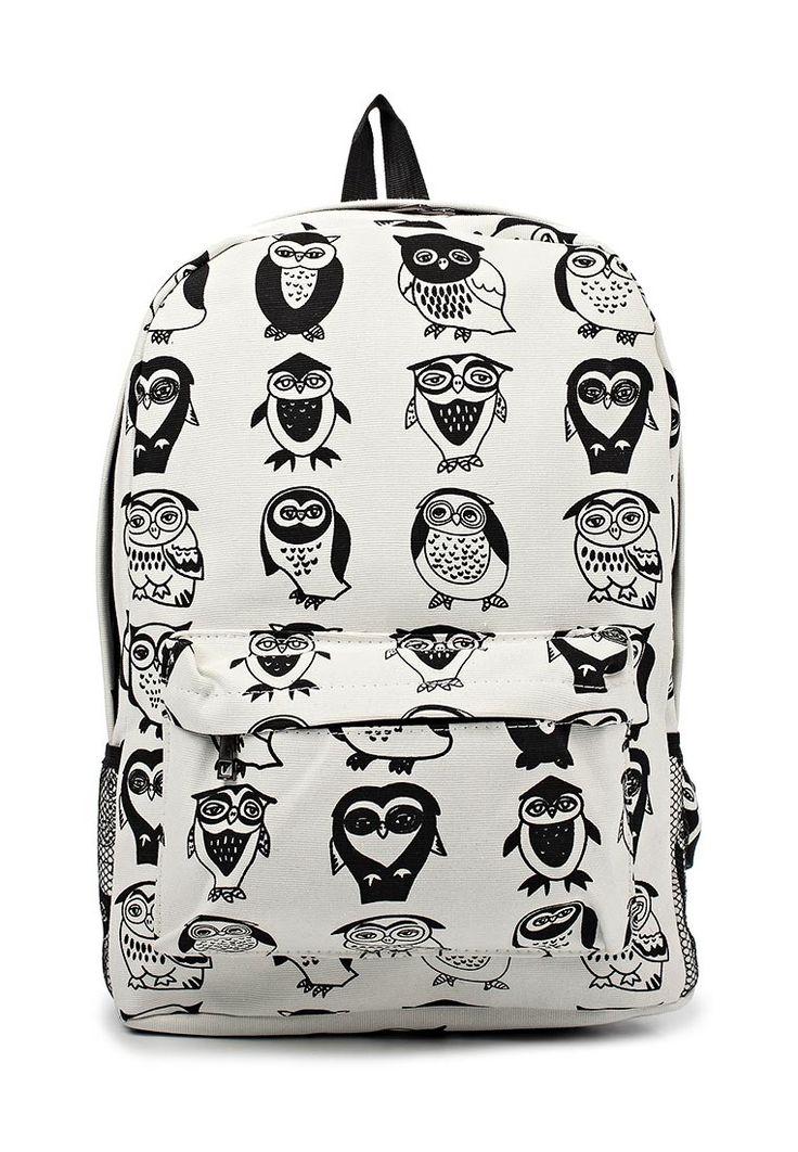 Рюкзак с совами. Черно-белые цвета — http://fas.st/i54MdQ