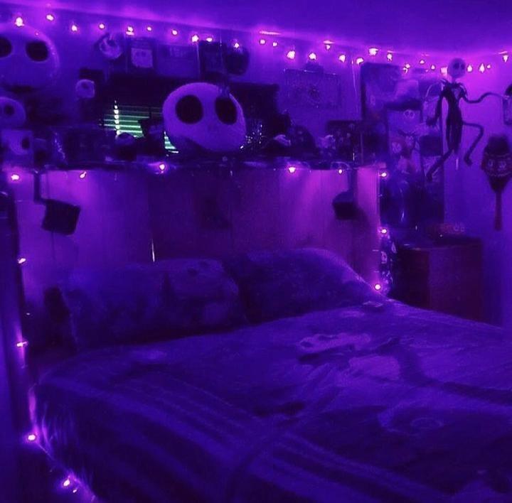 Purple Led Fairy Lights Halloween Bedroom Decor Halloween Bedroom Purple Bedrooms