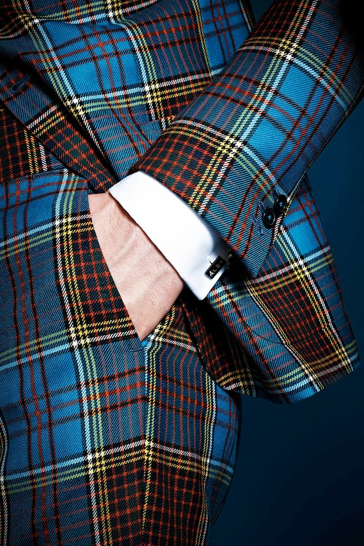 Lapo Elkan's Gucci Plaid Suit