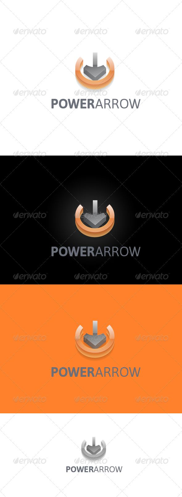PowerArrow — Photoshop PSD #contact #network • Available here → https://graphicriver.net/item/powerarrow/2403672?ref=pxcr