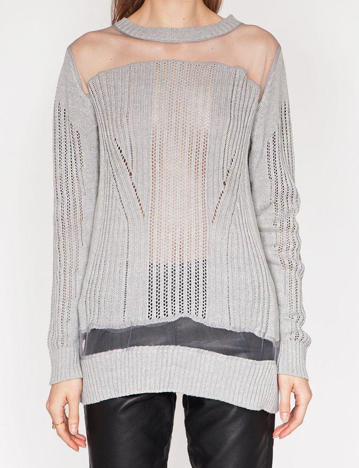 Grey mesh sweater
