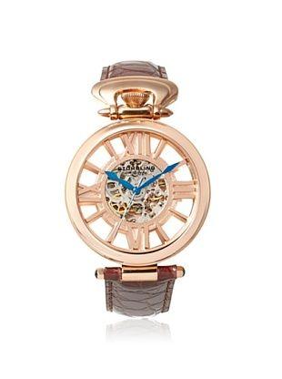 79% OFF Stuhrling Men's 297.334K14 Special Reserve Brown/Rose Stainless Steel Watch