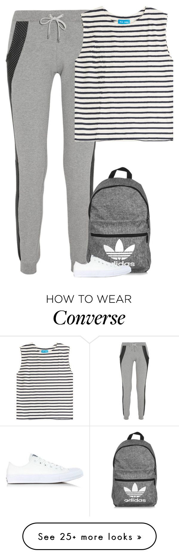 """""""Lazy"""" by fanny483 on Polyvore featuring Lot78, M.i.h Jeans, adidas and Converse"""