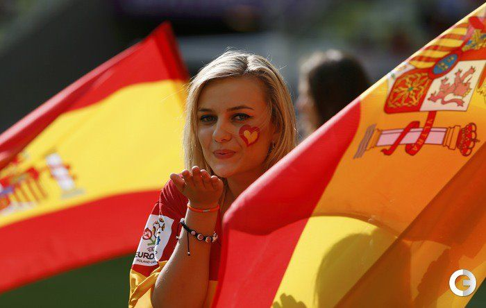 Sexy tifosa spagna euro 2012