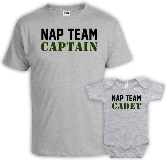 Matching Shirts Dad And Baby  - Price advertised includes a 2 Piece Matching Set. - Default Color is Sport Grey - If you prefer a different color,