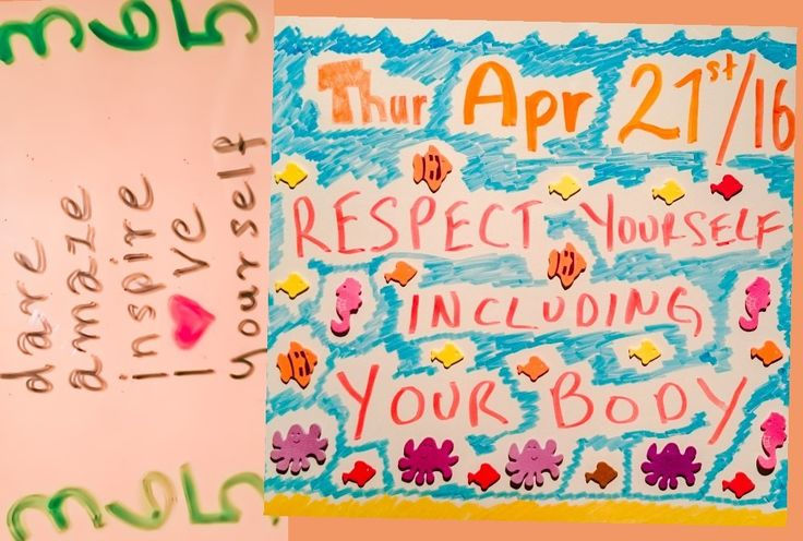 #365DAILY's # 9 Thurs April 21st, 2016  Respect yourself including your body