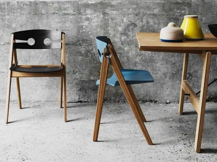Klappstuhl für Esszimmer aus Bambusholz