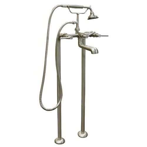 Contemporary+Freestanding+Tub+Faucet+and+Supplies+-+Lever+Handles