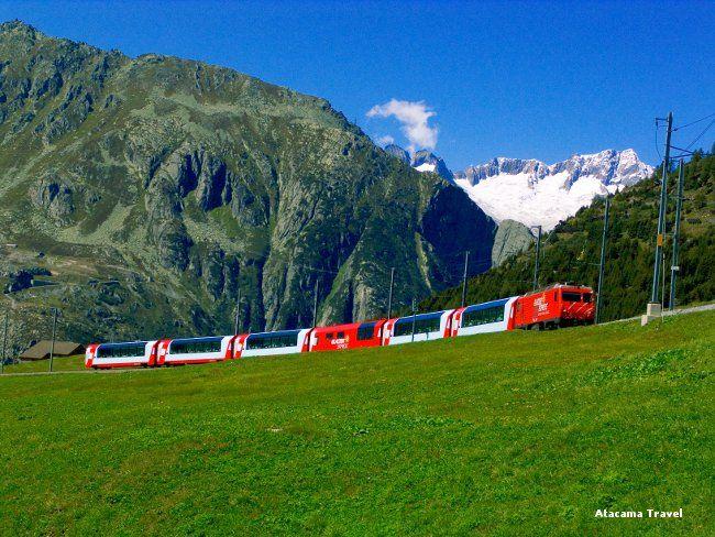 #glacierexpress #treno