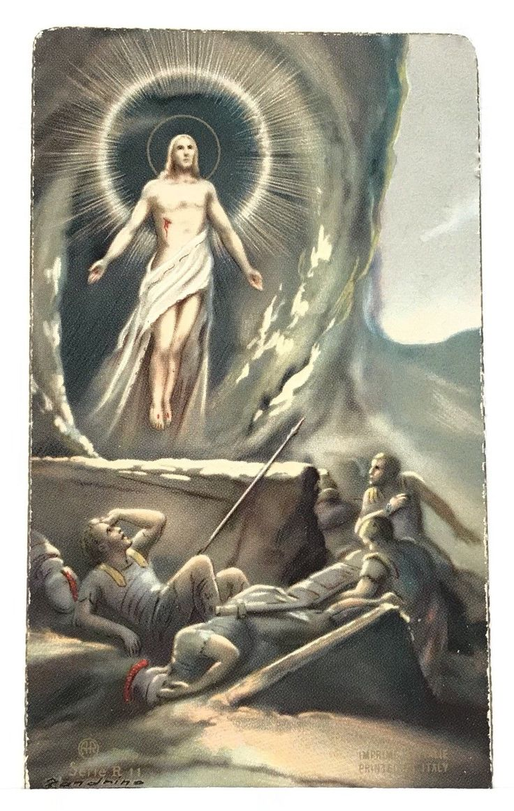"""THE Resurrection of Jesus Christ, Vintage Holy Devotional Prayer Card - CAD $9.41. The Resurrection of Jesus Christ, Vintage Holy Devotional Prayer Card. Size: 2 1/4"""" x 4"""". Excellent Condition. 152899471723"""