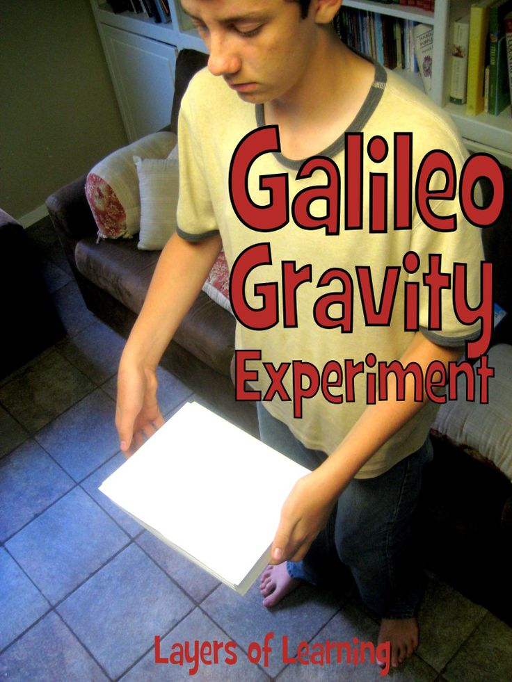 Simple Galileo gravity experiment to show that light and heavy objects fall at the same rate in the absence of air resistance.